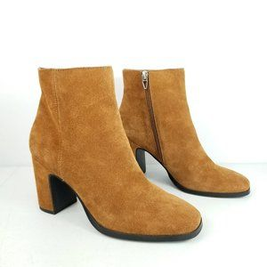 Dolce Vita Suede Heeled Ankle Boots 7.5m Brown